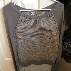 Grey sweater Mudd brand